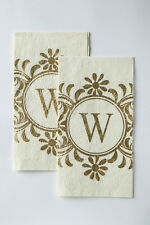 Cypress Home Embossed Monogram W Paper Guest Napkin, 90 count