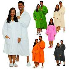 Terry Cloth Bathrobe %100 Cotton Men's Women's Robe Best Gift with Embroidery