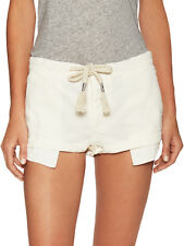 FREE PEOPLE Beach Please Rope String Linen Shorty Shorts Off White XS $78