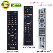 New Remote Control Controller Sony TV RM-ED047/RM-ED054/RM-GD004W Replacement KS