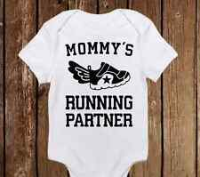 Mommy's Running Parter Onesie Fitness Enthusiast Workout Baby Girl/Boy Bodysuit