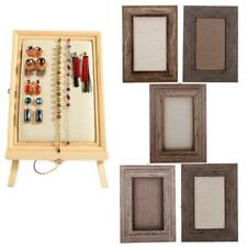 Vintage Wooden Wall Mount Bulletin Board Picture Frame Hanging Jewelry Showcase
