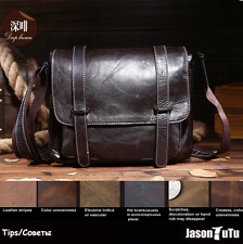 Fashion Men Shoulder Bag 100% Genuine Leather Messenger Crossbody Briefcase Pack