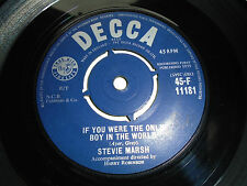 STEVIE MARSH / IF YOU WERE THE ONLY BOY IN THE WORLD / LEAVE ME ALONE     45RPM