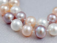 """6-8mm AA Multicolor Pearl Necklace 18"""" Freshwater Pearl Necklace Pendant"""