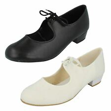 Girls Reo Lace Up Tap Dancing Shoes Tap Shoes -D