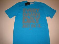 """Nike """"Every Damn Day Just Do It"""" T-Shirt Turquoise/Graphite Men's Small Large XL"""