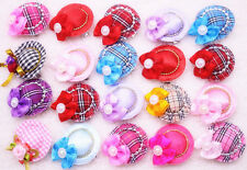 New Cute Pet Puppy Dog Cat Hair Bows with Clips&Caps Pet Dog Grooming Accessory