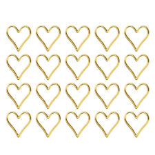 20pcs Alloy Simple Heart Charms Pendant Connectors for DIY Jewelry Making
