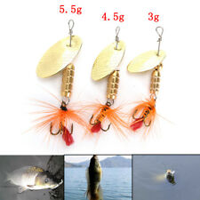 Fishing Lure Spoon Bait ideal for Bass Trout Perch pike rotating Fishing SP