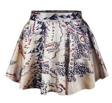 Women's New Pleated Skirt Mountain Map Pattern Waist Skirt one Size Short Dress