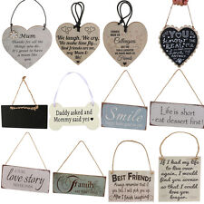 Wooden Board Hanging Plaque Gift Word Sign Wall Door Home Decoration Gifts