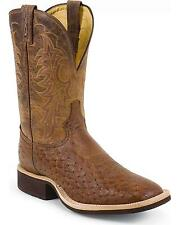 Tony Lama Men's Smooth Quill Ostrich Cowboy Boot Wide Square Toe - 9078