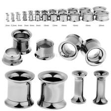 STAINLESS STEEL EAR STRETCHERS STRETCHER EXPANDING TUNNEL PLUGS EARRING RING