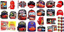 """Party Favors Disney Cars 16""""-12""""-10"""" Rolling Backpack Lunch Bag Umbrella Puzzle"""