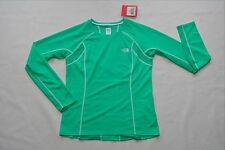 THE NORTH FACE GTD RUNNING CYCLING SHIRT FLASH DRY PERFORMANCE WOMENS GREEN