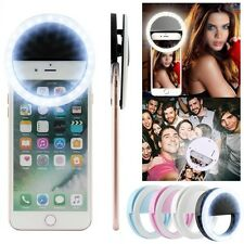Battery Operated Clip Selfie Lamp LED Ring Fill Light Camera For Universal Phone
