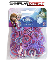 DISNEY FROZEN RAINBOW LOOM BANDS ANNA ELSA OLAF 200PC REFILL PACK NEW