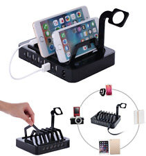 USB Multi-Device Charging Dock Station Charger Stand Holder For Phone/Watch