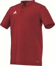 Adidas Football Youth Soccer Core 15 Climalite Polo Shirt Boys Red White