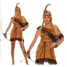 Wild West Native American Indian Princess Dress Up Adult Costume Woman Clothing