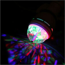1pc E27 3W RGB Rotating Crystal Auto LED Light RGB LED Party Stage Bulb Lamp SY
