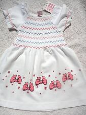 Baby Girls Pink & White Dress - NEW - Ages 12-18 mth only