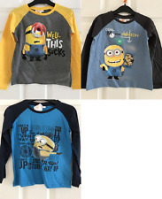 New boys licensed Despicable Me Minions t-shirts long sleeve crew neck bnwt