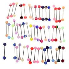 50/60Pcs Stainless Steel Navel Ring Lip Tongue Belly Bar Body Piercings Jewelry
