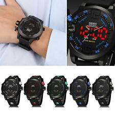 Mens OHSEN Sport Waterproof Watch LED Digital Analog Quartz Wrist Watch YU CA