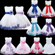 Flower Girl Dress Toddler Kids Princess Pageant Wedding Party Formal Tulle Dres