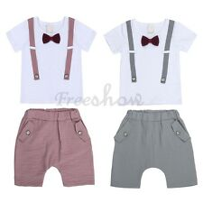 Baby Clothes Summer Short Sleeve Shirt+Short Pants Kids Boys Stripe Outfits