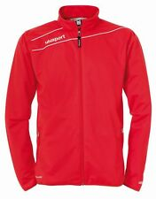 Uhlsport Mens Stream 3.0 Football Sports Zip Jacket Tracksuit Top Red White