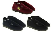 MENS DUNLOP BURGUNDY/NAVY BLUE ORTHOPAEDIC WARM LINED BOOT SLIPPERS SIZE 6 - 12