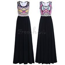Women Bohemian Summer Beach Boho Long Maxi Dress Party Swimwear Casual Sundress