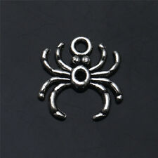 20/40/100/200/PCS Spider Tibetan Silver Pendants Charms Jewelry Findings 17X17mm