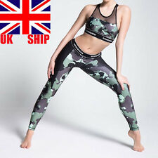 Ladies Camouflage Full Length Army Camo Trouser Workout Leggings Slim Fit Pants