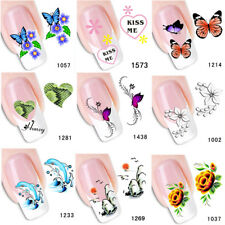 1Sheet Nail Art Stickers Decals Water Transfer French Nail Sticker Decorations