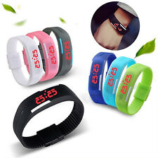 Men Women Watches Silicone Red LED Sport Bracelet Touch Digital Wrist Watch Chic