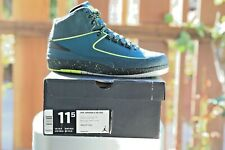 Nike Air Jordan II 2 Retro QS Nightshade Volt Ice Black Pure Platinum 385475-303