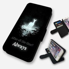 HARRY POTTER ALWAYS DOE FLIP PHONE CASE COVER WALLET FAUX LEATHER