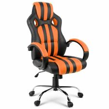 Leather Racing Office Chair - Orange