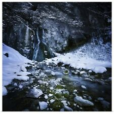 Poster Print Wall Art entitled Gegskiy waterfall in the snowy mountains of Ritsa