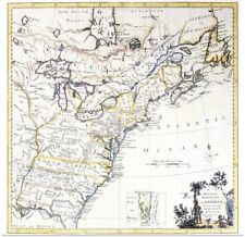 Poster Print Wall Art entitled Colonial America, Map, c1770