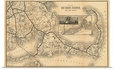 Poster Print Wall Art entitled 1888 Old Colony Railroad Cape Cod Map