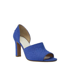 NEW! MAISON MARTIN MARGIELA BLUE SNAKE PRINT LEATHER TWO PIECE PUMP