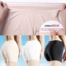 Ice Silk Breathable Non-trace Underwear Lingerie Safety Short Pants High Waist