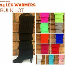 24x LEG WARMERS Knitted Womens Costume Neon Dance Party Knit 80s BULK New
