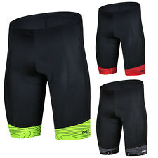 Mens Professional Cycling Padded Bike Shorts Bicycle Fluorescent Lycra Shorts