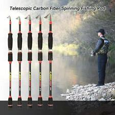 Portable Telescopic Carbon Fiber Fishing Rod Pole Spinning Fish Sea Rod New Q7J9